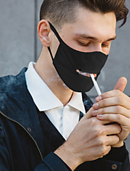 cheap -5 pcs Black Quick-drying Sunscreen Zipper Mask Ultra-thin Breathable Adult Men And Women Dustproof And Sunscreen Cycling Mask