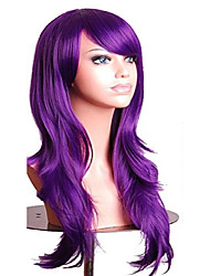 """cheap -27.5"""" long straight wig with bangs costume party wig (purple)"""