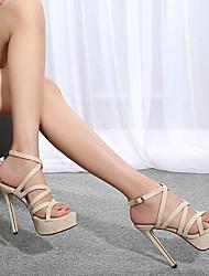 cheap -Women's Dance Shoes Pole Dancing Shoes Heel Slim High Heel Black Almond Buckle Adults'