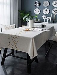 cheap -Table Cloth Cotton Dust-Proof Classic Printing Table Cover ,Stain Proof,Water Resistant Washable Table,Decorative Oblong Table Cover for Kitchen,Holiday