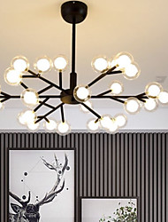 cheap -93 cm LED Chandelier Nordic Modern Globle Design Black Gold Metal Painted Finishes 110-120V 220-240V