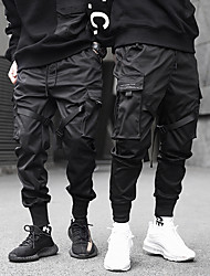 cheap -mens joggers pants long multi-pockets outdoor fashion casual relaxed fit streetwear with drawstring cargo pants