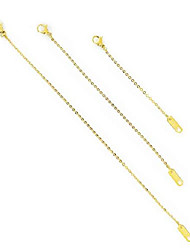 "cheap -delicate necklace extender set 2"", 4"", 6"" in 18k gold plate, 18k rose gold plate, or silver (gold)"