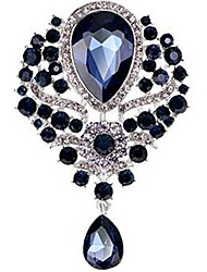 cheap -women crystals rhinestone crystals purple brooch pins jewelry accessories