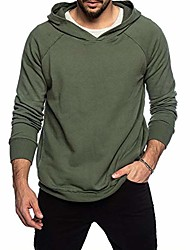 cheap -fashion hoodies mens athletic pullover sweatershirts- long sleeve solid color t-shirts green