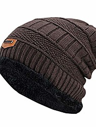 cheap -men's winter hat fashion knitted black hats fall hat thick and warm and bonnet skullies beanie soft knitted beanies cotton
