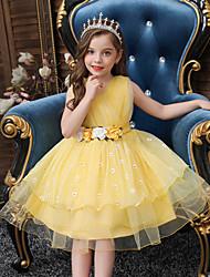 cheap -Princess Flapper Dress Dress Party Costume Girls' Movie Cosplay Cosplay Costume Party Purple / Yellow / Blue Dress Christmas Children's Day New Year Polyester Organza