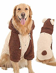 cheap -Pets Float Coat for dog Coat Crewels Casual / Daily Cute Dog Clothes Puppy Clothes Dog Outfits Please consult customer service for large quantities (With traction hole) Big bear two-legged outfit
