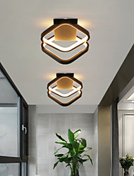 cheap -LED Ceiling Light Porch Light Aisle Corridor Lamp Black White Adjustable Square Modern Nordic Cloakroom Study Lamp