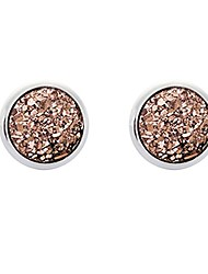 cheap -1 pairs 9 color alloy resin shinny stud earrings fashion round stud earring jewelry