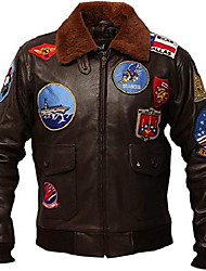 cheap -g1 military ww2 air force bomber cowhide leather flight jacket men brown