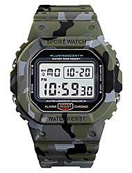 cheap -mens digital watch,  casual sports rectangle watches outdoor 50m waterproof big dial multifunction military electronic wristwatch for teen students