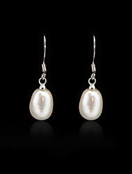 cheap -Women's Hoop Earrings Pear Cut Drop Pearl Earrings Jewelry White For Wedding Daily
