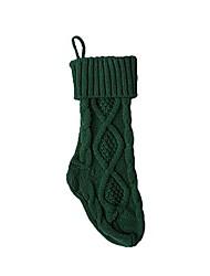 cheap -christmas stocking chunky knit stocking large (green)