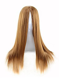 cheap -70cm women's long straight hair no bangs party wig cosplay wigs