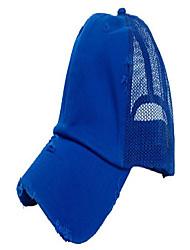 cheap -trucker mesh baseball cap mens womens vintage distressed 6 panels twill hat, royal blue