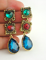 cheap -Women's Stud Earrings Drop Earrings Dangle Earrings Fancy Holiday Fashion Birthday Stylish Colorful Vintage Punk Trendy Earrings Jewelry Gold For Christmas Birthday Party Evening Beach Festival 1 Pair