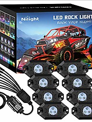 cheap -rgb led rock lights kit, 8 pods underglow multicolor neon light pod w/bluetooth app control timing function flashing music mode ip68 exterior wheel well light for truck atv utv rzr suv