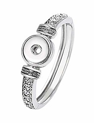 cheap -legenstar snap buttons bracelet& bangles jewelry charms antique silver plated vintage bracelet fit18mm diy jewelry