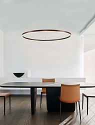 cheap -60 cm Circle Design Pendant Light Fashion Contemporary Modern Aluminium Alloy Brushed