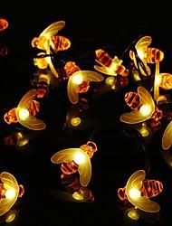 preiswerte -Outdoor Solar Biene Lichterketten Outdoor Honigbiene Lichterketten mit 8 Beleuchtungsmodi wasserdichte Solar Hummel Lichter für Terrasse Garten Garten Gras Hochzeit Weihnachtsfeier Dekor Garten Licht