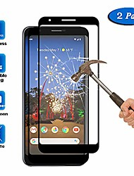 "cheap -2 pcs  [full coverage] compatible with google pixel 3a screen protector (5.6""), anti-scratch hd tempered glass protective film for google pixel 3a"
