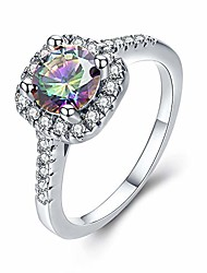 cheap -cz ring solitaire crystal women's engagement rings cubic zirconia wedding band gift (colorful-w, 8)