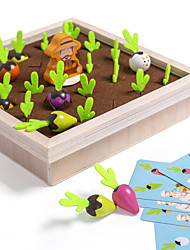 cheap -Board Game Educational Toy Carrot Harvest Memory Game Wooden STEAM Toy family game Parent-Child Interaction Home Entertainment Kid's Adults Boys and Girls Toys Gifts