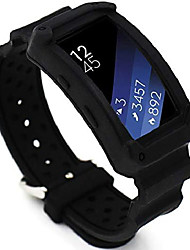 cheap -for gear fit 2 band,  silicone bands for gear fit2 watch soft replacement band plastic wristband for samsung galaxy gear fit 2 sm-r360 smart watch (black)
