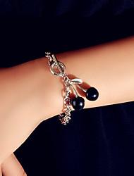 cheap -Women's Charm Bracelet Single Strand Cherry Sweet Alloy Bracelet Jewelry Silver For Date