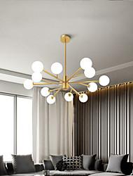 cheap -12/18 Heads LED Chandelier Modern Nordic Pendant Light Glass Globe Design Sputnik Design Living Room Bedroom Metal Electroplated 110-120V 220-240V