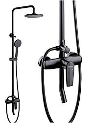cheap -Shower System Set - Handshower Included Rainfall Shower Multi Spray Shower Contemporary Painted Finishes Mount Outside Ceramic Valve Bath Shower Mixer Taps