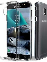 cheap -samsung j7 2018 case,heavy duty transparent soft silicone protective cover hybrid shockproof slim case for galaxy j7 star/j7 refine/j7 aura/j7 crown/j7 v 2nd gen/j737 (clear)