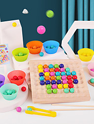 cheap -Board Game Rainbow Ball Elimination Game Wooden STEAM Toy family game Parent-Child Interaction Home Entertainment Kid's Adults Boys and Girls Toys Gifts
