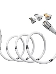 cheap -Micro USB / Type-C Cable 2.4 A 1.8m(6Ft) High Speed / Quick Charge PVC(PolyVinyl Chloride) USB Cable Adapter For Samsung / Huawei / Xiaomi
