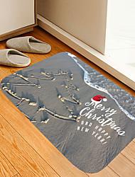 cheap -Christmas Door Mat Beach Christmas Door Mat Tree Digital Printing Floor Mat Modern Bath Mats Nonwoven Memory Foam Novelty Bathroom