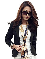 cheap -women open front blazer jacket casual long sleeve work office cardigan(shipped from usa!!!) black