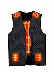 cheap -heated vest, unisex heated waistcoat for men women, lightweight usb electric heated jacket with 3 heating levels(black,x-large)