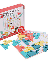 cheap -Board Game Educational Toy Color & Shape Matching Game Wooden STEAM Toy family game Parent-Child Interaction Home Entertainment Kid's Adults Boys and Girls Toys Gifts