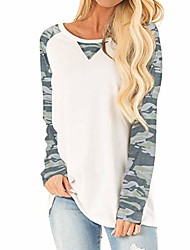 cheap -women's loose casual shirt, camouflage long sleeve (s-2xl)