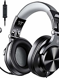 cheap -computer headsets with mic - wired over ear pc headphones with in-line control mute & detachable microphone for zoom skype office conference phone call laptop gaming ps4 online course