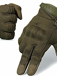 cheap -flexible breathable touch screen full finger gloves for motorcycle cycling motorbike riding driving racing climbing camping hiking hunting work size x-large green