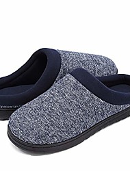 cheap -men's comfy memory foam slippers non-slip anti-odor house slippers winter warm knitted cotton slippers (medium / 9-10 b(m) us, navy blue)