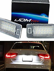 cheap -oem-fit 3w full led license plate light kit compatible with audi a4 a5 a6 a7 s4 s5 s6 s7 rs4 rs5 rs7 q5 q7, powered by 24-smd xenon white led & can-bus error free