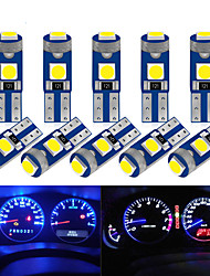 cheap -10Pcs T5 Led Bulb W3W W1.2W Led Canbus Car Interior Lights Dashboard warming indicator Wedge Auto Instrument Lamp 12V