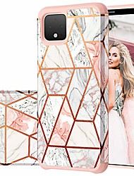 cheap -pixel 4 case,  google pixel 4 case rose gold marble design shiny glitter bumper hybrid hard pc soft rubber silicone cover anti-scratch shockproof protective case for google pixel 4 5.7 inch 2019