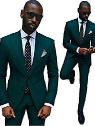 cheap -green slim fit wedding suits for men 2 pieces groom tuxedos business men suits 48 chest / 42 waist