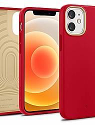 cheap -nano pop silicone case compatible with iphone 12 mini case (2020) - red