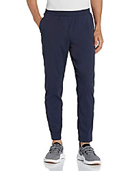 cheap -amazon brand - men's all terrain jogger with elastic waistband, navy, large