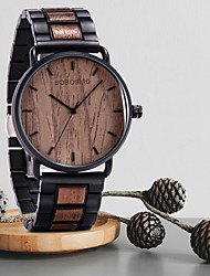 cheap -Dress Watch Analog Quartz Water Resistant / Waterproof / Wood